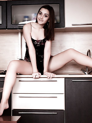 Amour Angels  Stella  Solo, Teens, Funny, Kitchen, Brunettes